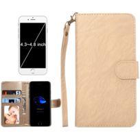 Wewoo - Coque or pour iPhone 8 & 7 & 6s & 6 & 5 & 5s Se, Samsung Galaxy Siv & Siii, Taille: 13,5 x 7 x 1,8 cm ordinateur portable, housse de protection et cadre magnétique rabat horizontale avec en cuir