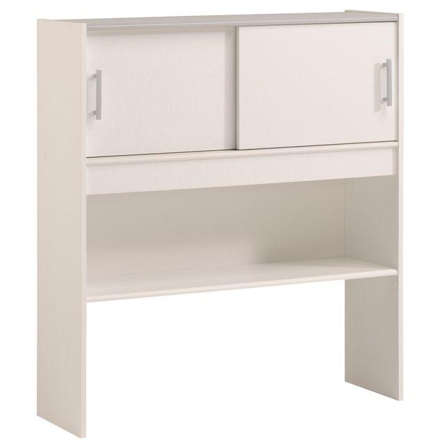 Last Meubles - Lit avec environnements Luc 90X200cm Blanc - 90cm x 200cm