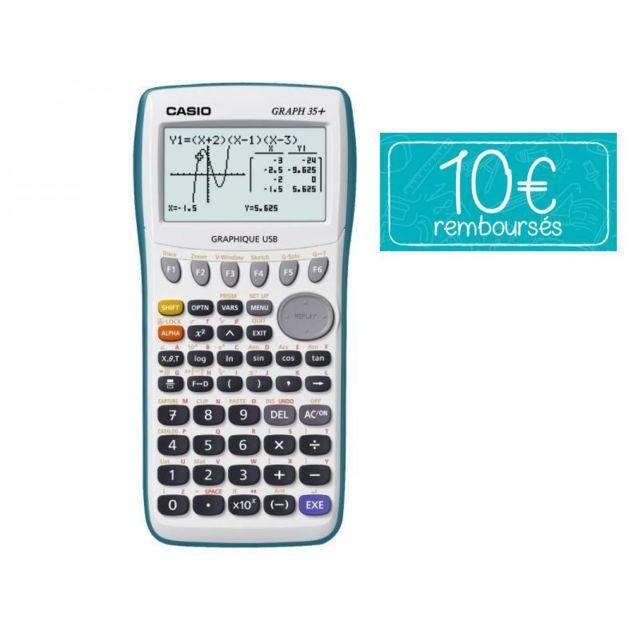 casio calculatrice graphique graph 35 e gris pas cher achat vente calculatrices classiques. Black Bedroom Furniture Sets. Home Design Ideas