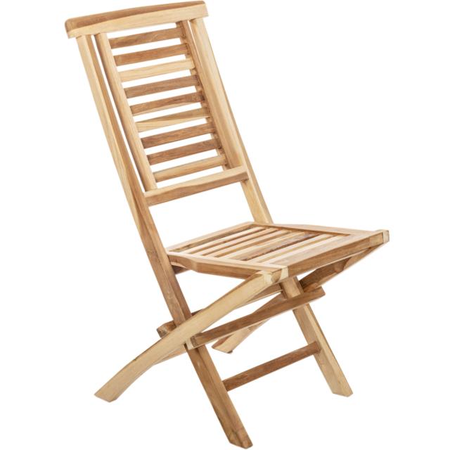 Primematik Chaise pliante d'extérieur en bois de teck