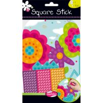 Maildor - Gommettes autocollantes Square Stick : Fleur