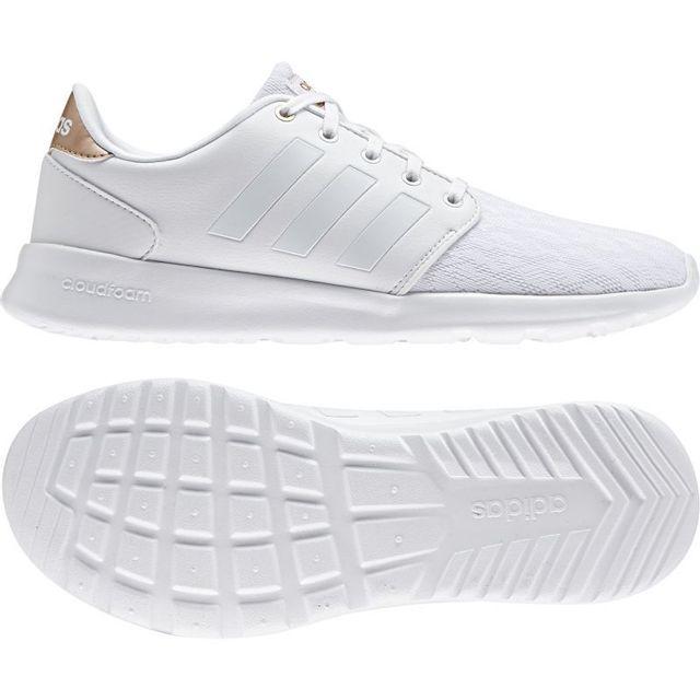 Adidas - Chaussure femme cloudfoam qt racer blanche - pas ...