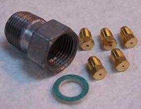 Proline Jeu injecteur de gaz naturel avec raccord m/f//1x99// 1x110//1x70//1x130 pour cuisiniere