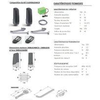 Cardin - Kit Automatisme bras articulé sérieBL824,av batterie,pr portails battants