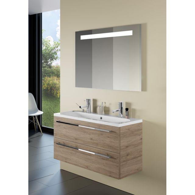 Riho Ensemble meuble & lavabo Cambio Stretto Set 13 en bois laqué brillant 100x38x H 58 cm