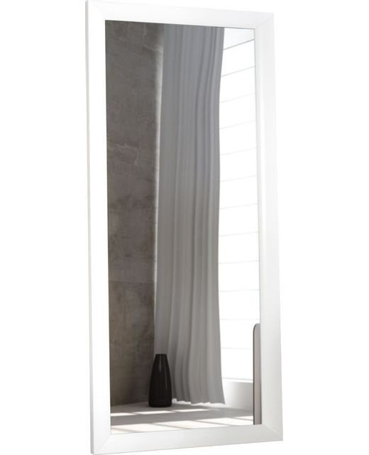 Comforium grand miroir classique en bois 150 cm coloris for Grand miroir blanc