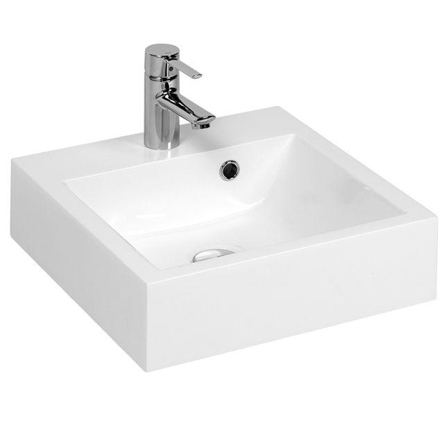 Moderne CREAZUR - Vasque carrée 40 cm résine salle de bain RÉSICUB - pas TP-73