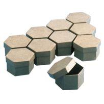 La Fourmi - boite en carton hexagonale 78mm - lot de 10