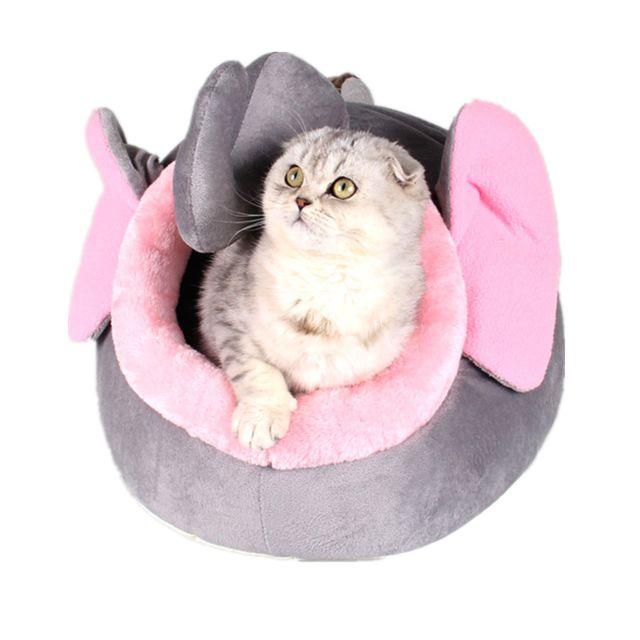 Doux Pet Kennel Mignon Éléphant Lit Chaud Maison Petit Chien Chat Chiot Maison S