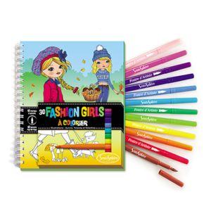 Sentosphère - Carnet de coloriage : Fashion Girls