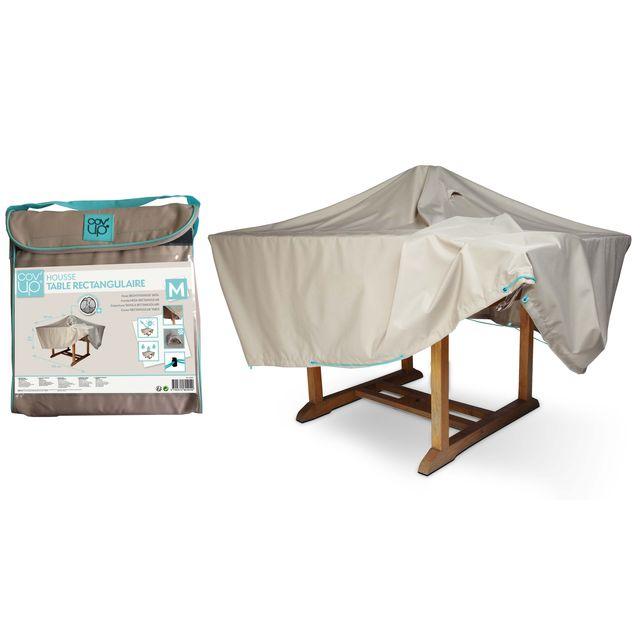 oviala housse de table de jardin 170 x 110 cm taupe. Black Bedroom Furniture Sets. Home Design Ideas