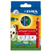 Lyra - 6 Couleurs D?FINIE Lire Rainure Triple Un Crayon Aquarelle JAPON Importation