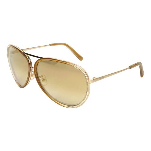 d0edd797376873 Calvin Klein - Ck-7333-S 255 Or brossé - Beige transparent - Lunettes de  soleil - pas cher Achat   Vente Lunettes Tendance - RueDuCommerce