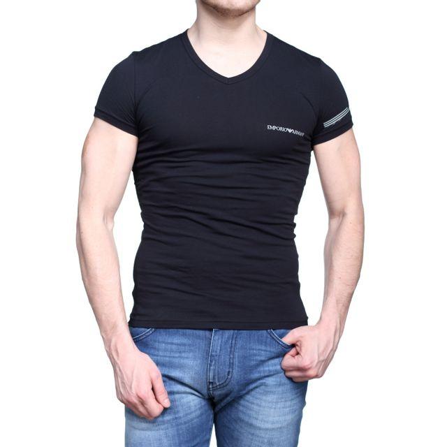 8eb99b4dfdb Armani - T Shirt Emporio Underwear 110810 - 7p723 00020 Noir - pas ...