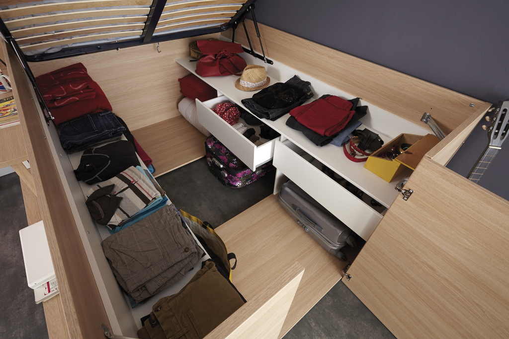 last meubles lit studio loft 140cm x 200cm pas cher achat vente structures de lit. Black Bedroom Furniture Sets. Home Design Ideas