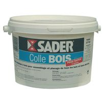 Sader - Colle à bois prise rapide - seau 2,5 Kg
