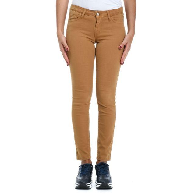 Roy Roger'S Femme Rnd002P2570112886 Beige Coton Pantalon