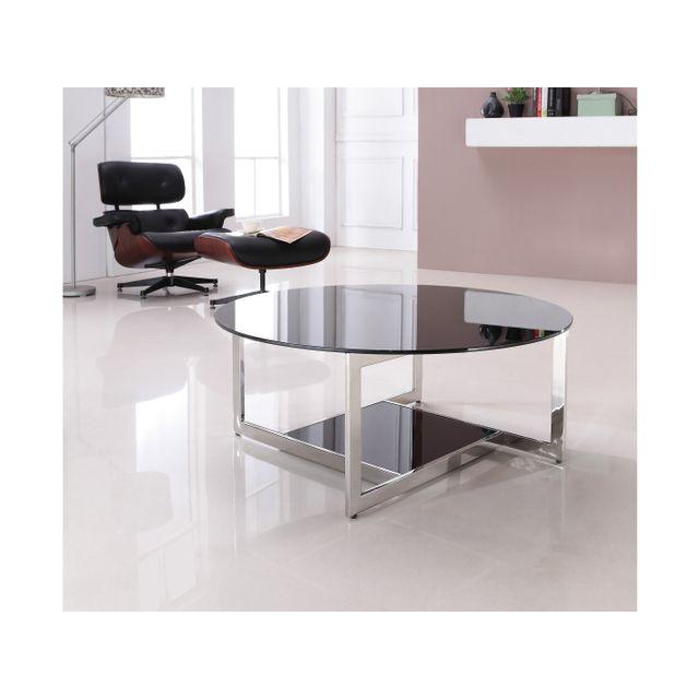 La Maison Du Canapé Table Basse Rio Noir Pas Cher Achat