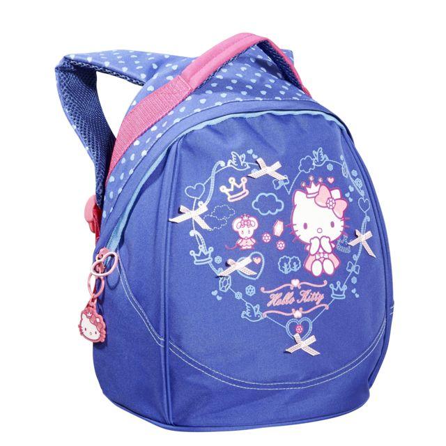 mode attrayante acheter maintenant marques reconnues CARREFOUR - Mini sac à dos HELLO KITTY - 33 cm - Bleu ...
