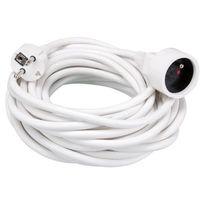 Waytex - Rallonge - 10 M - Blanc - 3G1.5
