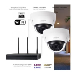 dahua syst me wifi de surveillance avec 2 cam ras int rieures capacit du disque dur disque. Black Bedroom Furniture Sets. Home Design Ideas