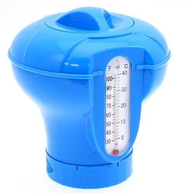 Touslescadeaux - Diffuseur de chlore flottant avec thermomètre intégré