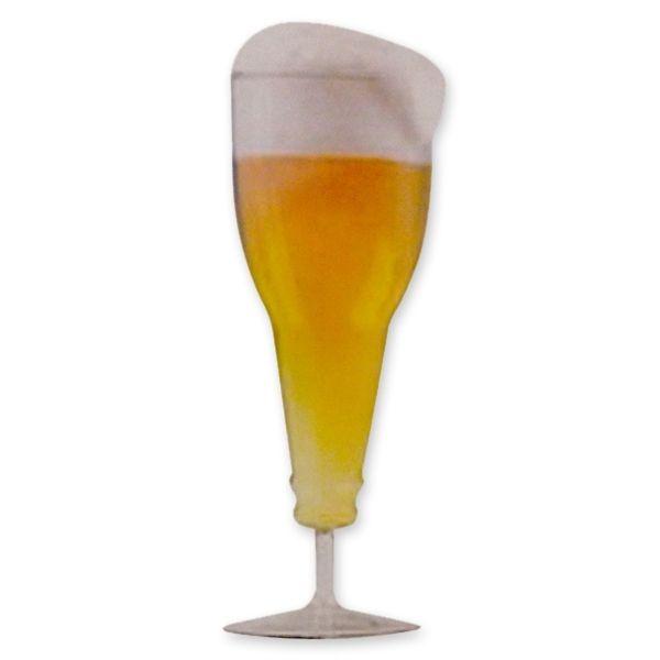 Totalcadeau Verre double parois à bière forme bouteille renversée verre magique