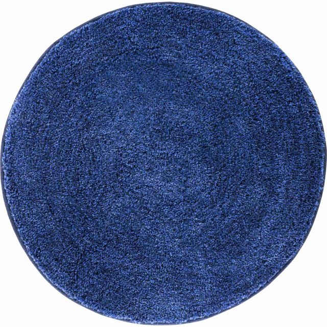 Esh Equipement - Tapis de salle de bain Lex bleu rond 80 cm 80cm x ...