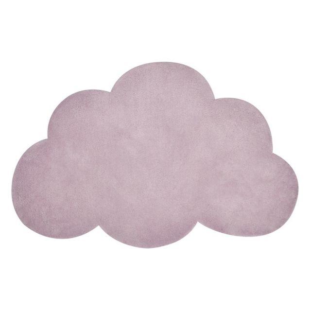 Lilipinso - Tapis Nuage Smoke rose chambre bébé fille par - Couleur ...