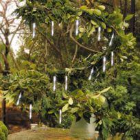 Lealight - Guirlande lumineuse d'extérieur tige blanc