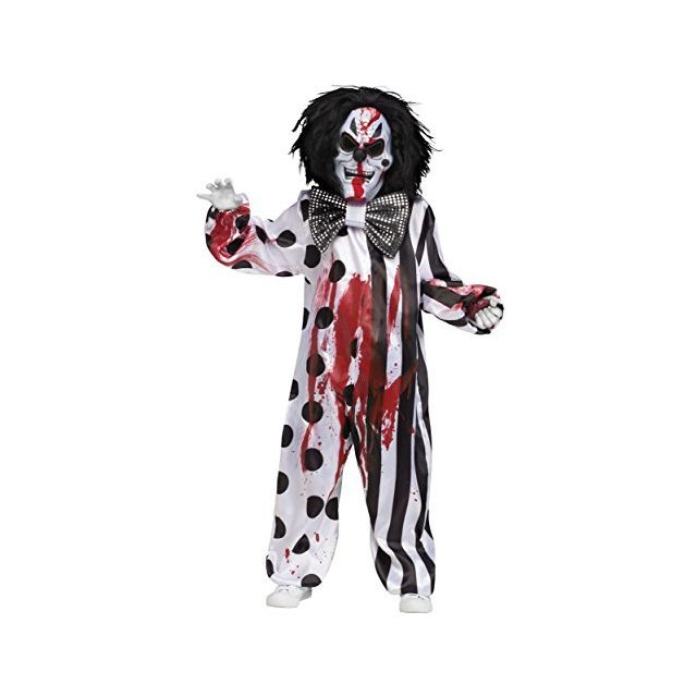 Fun World Bleeding Killer Clown Childrens Costume Medium Multicolor