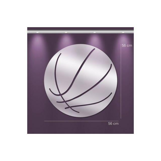 Declikdeco Miroir basket Gm argenté en verre Tiana 56 x 56 cm