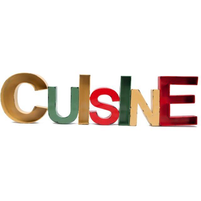 ANTIC LINE CREATIONS Lettre décorative cuisine