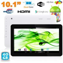 Yonis - Tablette tactile 10 pouces Android JellyBean 4.2 Dual Core 1.3GHz 40Go