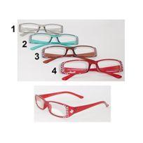 9bfd4d6e4b Sans - Paire lunette de lecture +1.00 Strass Loupe Grossissante - Mod3  Marron - 757