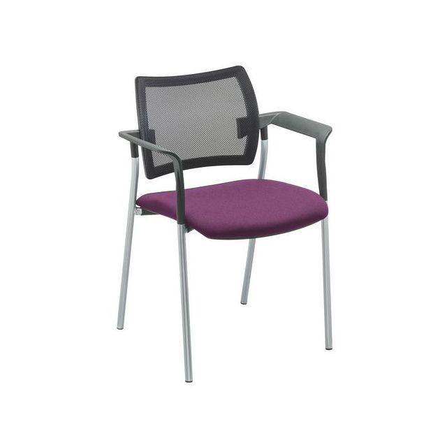 Sokoa Fauteuil Amets dossier maille pieds alu assise violette