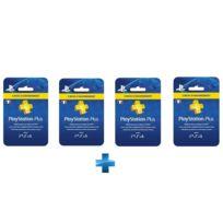 SONY - Carte Playstation Plus - Abonnement 3 mois + Carte Playstation Plus - Abonnement 3 mois + Carte Playstation Plus - Abonnement 3 mois + Carte Playstation Plus - Abonnement 3 mois