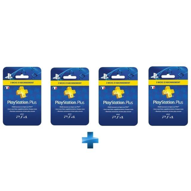 Carrefour Carte Abonnement Ps4.Sony Carte Playstation Plus Abonnement 3 Mois Carte