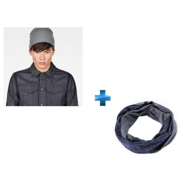 fec0b8c03b7f CELIO - Pack 1 bonnet + 1 écharpe Bleu marine - pas cher Achat ...