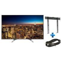 PANASONIC - TV 55'' TX-55DX600 + Support mural fixe 26'' - 55'' + câble HDMI 1.5m