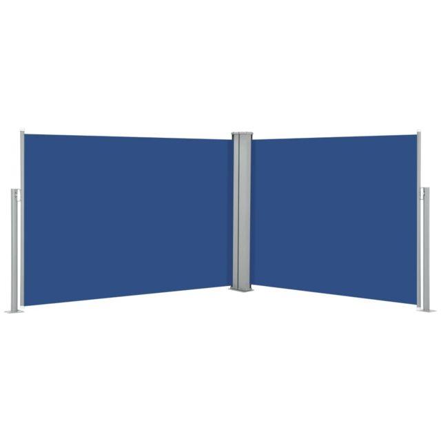 Vidaxl Auvent latéral rétractable Bleu 100 x 1000 cm