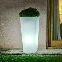 New Garden - Pot de fleur lumineux en polyéthylène blanc Melisa