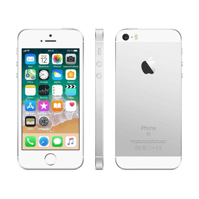 apple iphone se 128 go mp872f a argent pas cher achat vente smartphone classique ios. Black Bedroom Furniture Sets. Home Design Ideas