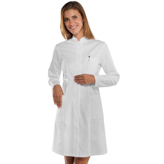 isacco blouse blanche m dicale femme col officier pas. Black Bedroom Furniture Sets. Home Design Ideas