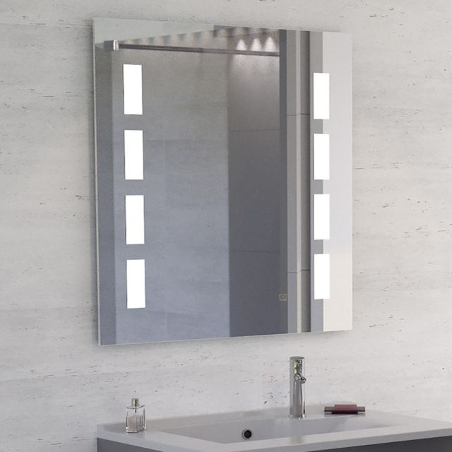 creazur miroir led anti bu e prestige 80x80 cm avec interrupteur sensitif pas cher achat. Black Bedroom Furniture Sets. Home Design Ideas