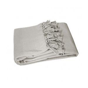 Marque Generique - Plaid en coton 150 cm, Lana Gris