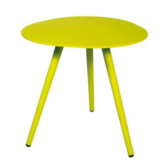 Gecko Jardin Table d'appoint en alu vert anis Spezia