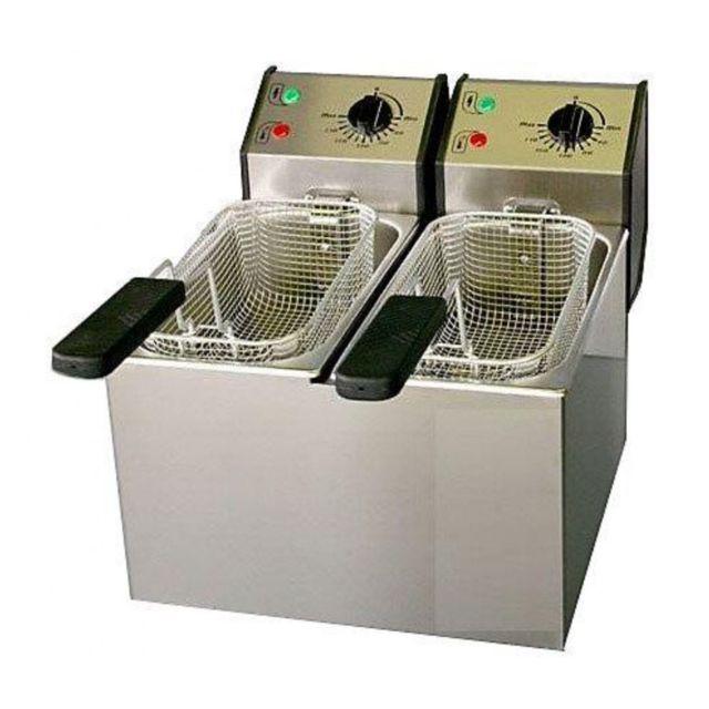 Roller Grill Friteuse De Comptoir Double Bac Fri5d - 16kg Frites/h