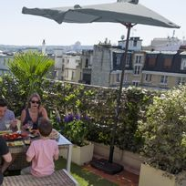 City Green - Demi-parasol de balcon rectangulaire 230x130cm mat en aluminium toile polyester 180g manivelle Cuba