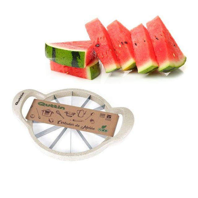 Totalcadeau Coupe-melon rapide biologique en plastique et en bambou 30,2 x 22,5 x 6 cm